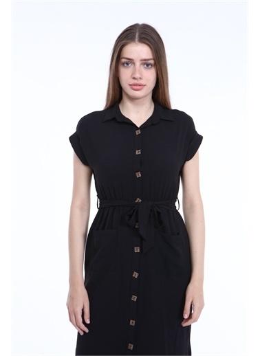 Reyon Elbise Siyah